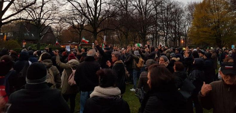 تظاهرات ایرانیان در هامبورگ