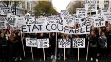 تظاهرات زنان فرانسوی