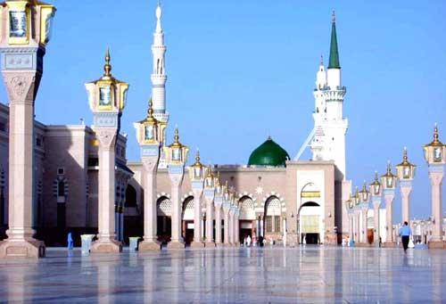 Kubah Hijau Masjid Nabawi dari sebelah Barat