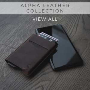 AKIELO Alpha Leather Wallet Collection Minimalist credit Card holder