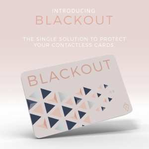 Pink Blackout Card Ultra Thin RFID Blocking Card RFID Card Protector for your Wallet or Purse
