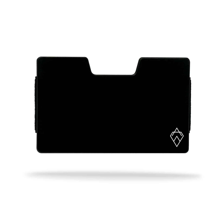 matte black RFID blocking credit card holder wallet with money clip
