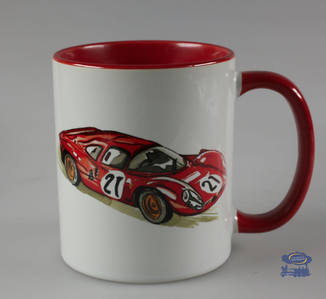 Le Mans 67, Mug Blanc / Rouge
