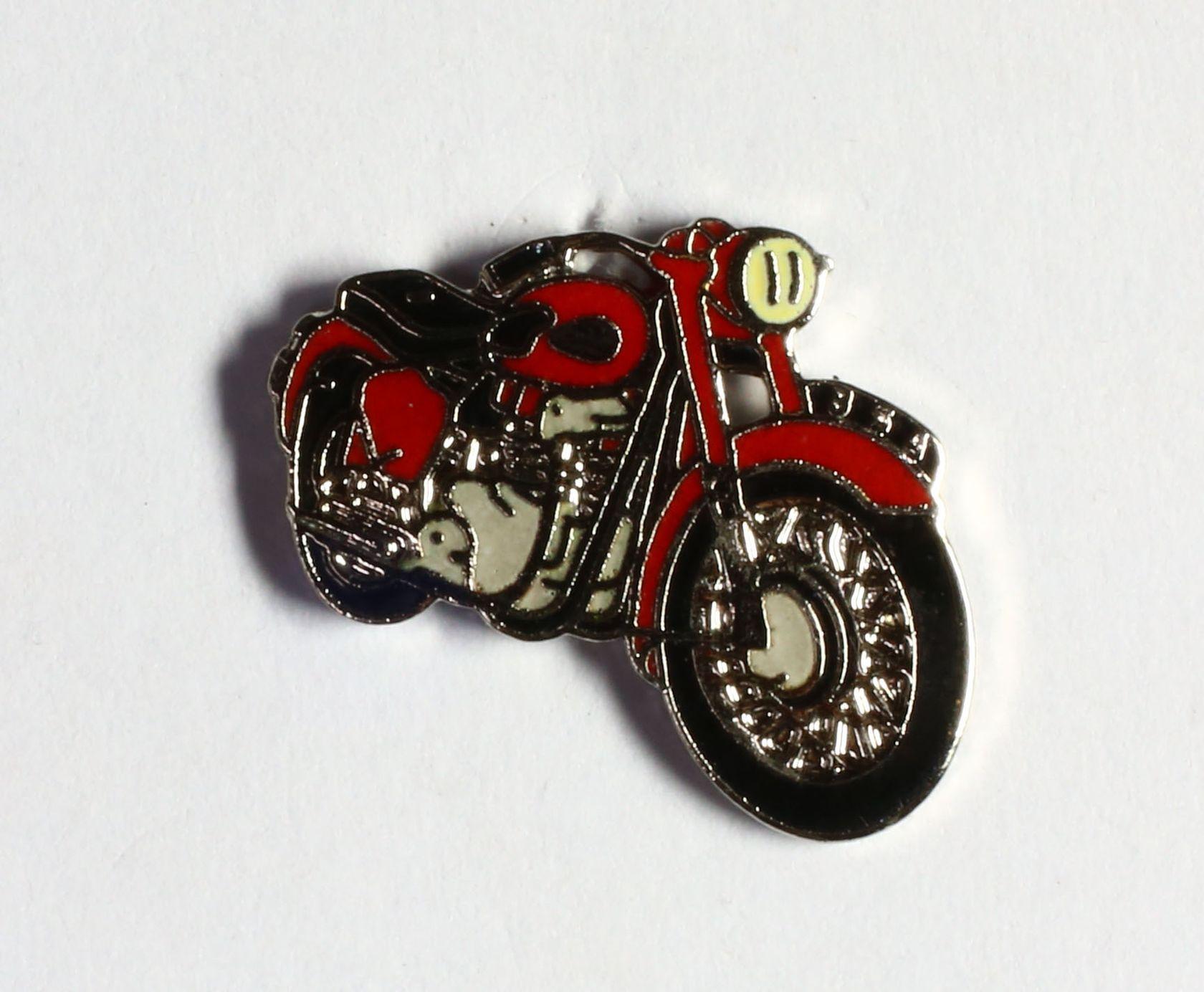 Moto rouge selle noire (Petit modèle)