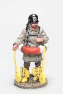Pompier allemand avec bouée Berlin 1900 1/32