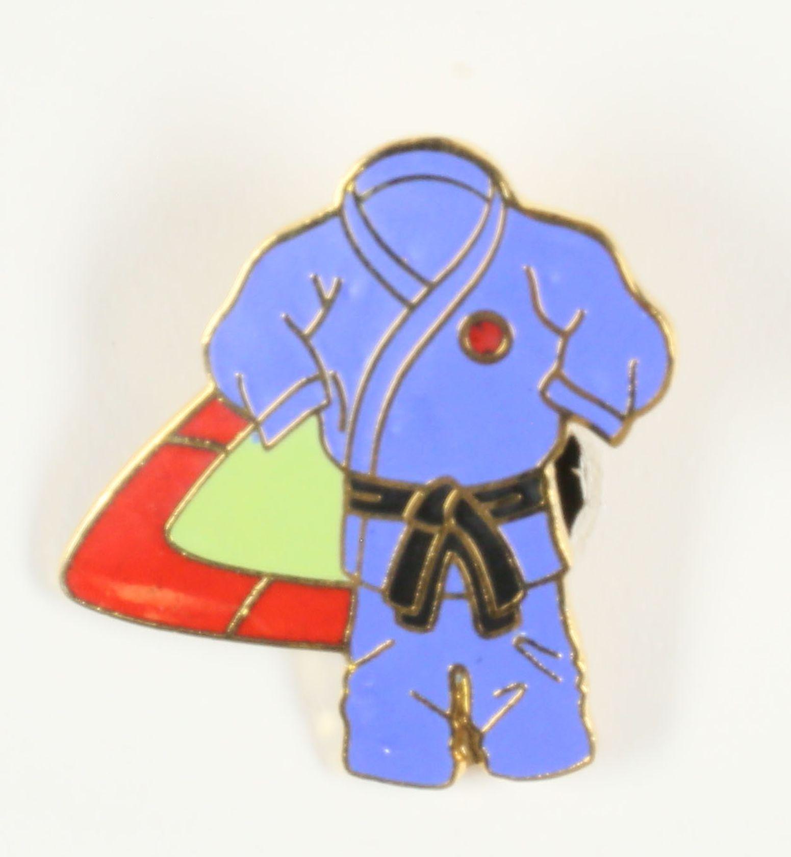 Kimono bleu ceinture noire