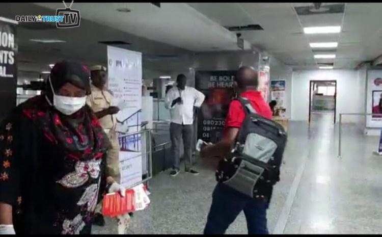 Watch Video of Nigerian Officials Screening Passengers For Coronavirus At Lagos Airport
