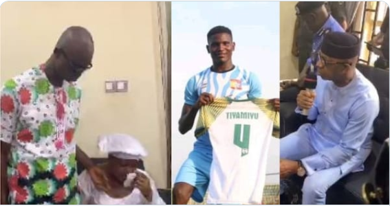 Nigerians React As Governor Dapo Abiodun Visits Family of the Late Footballer, Tiamiyu Kazeem