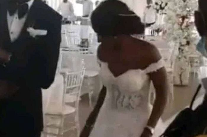 See As This Nigerian Couple Dance Into Their Wedding Reception With No Guest (Watch Video)