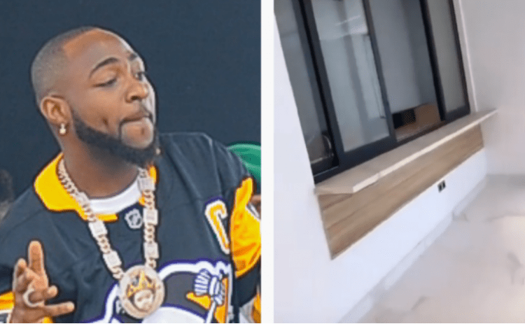 Davido Melts Hearts As He Flaunts His New Banana Island Mansion With Elevator (WATCH VIDEO)