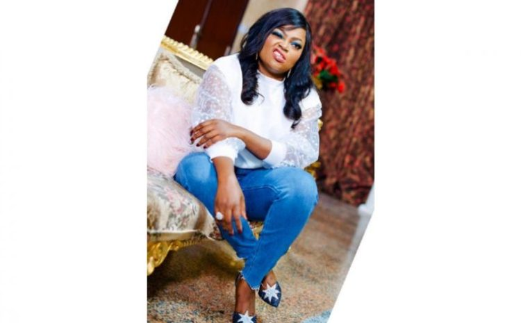 Funke Akindele Shares New Hot Pictures of Herself In Her Luxurious Sitting Room