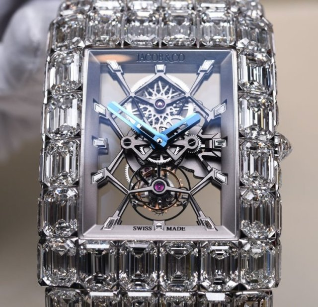 Jacob Co Billionaire diamonds watch 39 - Checkout One Of Floyd Mayweather's Wristwatches (SEE PHOTOS)