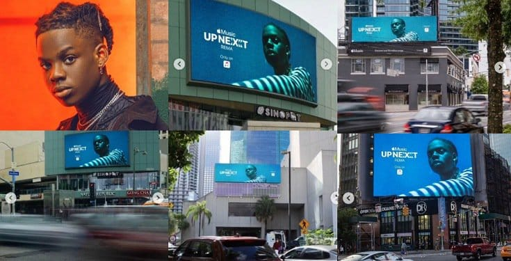 Rema Spotted In Several Billboards in Miami, Atlanta, Los Angeles and New York (Videos)