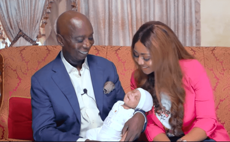 The Wait Is Over As Regina Daniels And Her Billionaire Husband Reveal Their Son's Face (See Photos)