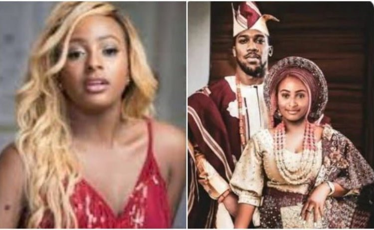 Reactions As DJ Cuppy Shares 'Traditional wedding' photo with Anthony Joshua