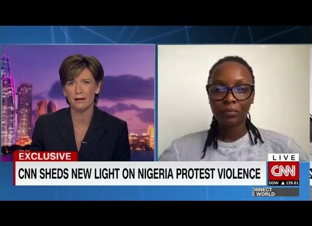Lekki Shooting: See 5 Things That DJ Switch Said In Her Interview With CNN's Becky Anderson