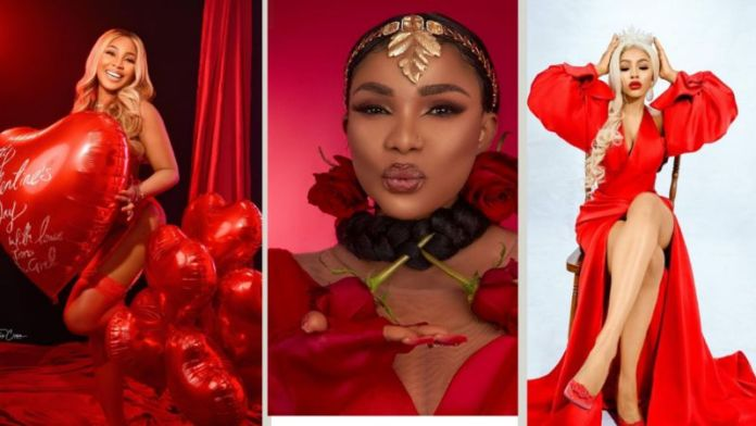 How Nigerian Female Celebrities Slay For Fans On Valentine Day