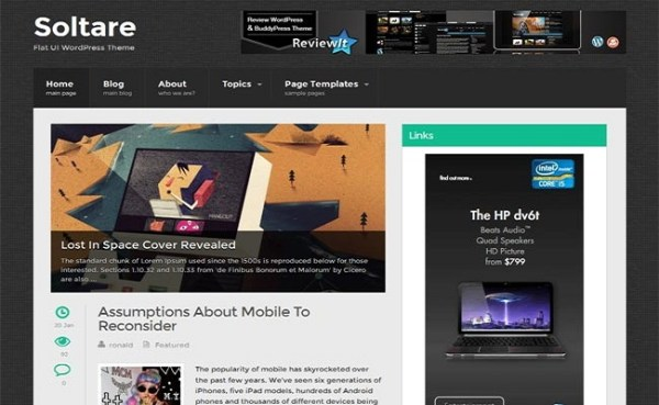 WordPress Responsive Theme with Minified Mobile Mode