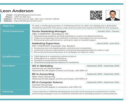 Free Resume Builder To create a Great Looking CV Online