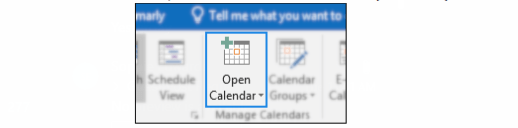 Calendar expand option