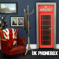 UK LOVE -  Phonebox Tür