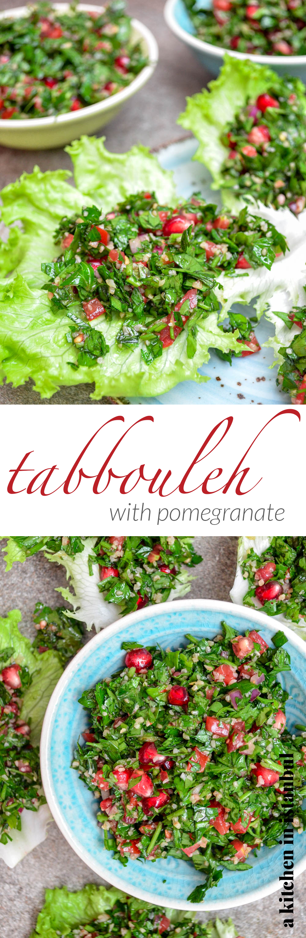 Tabbouleh with pomegranate - recipe / A kitchen in Istanbul