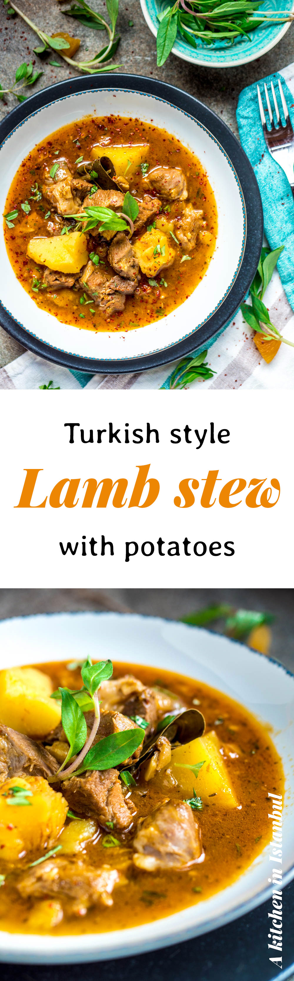 Turkish style lamb stew with potatoes - recipe / A kitchen in Istanbul