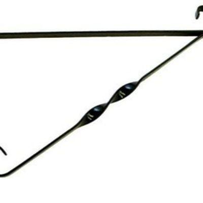 """12"""" Black Metal Hanging Basket Bracket - AK Kin Garden Supplies"""