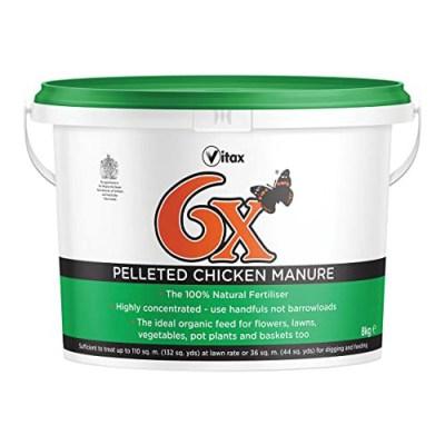 Vitax 6x Pelleted Chick Manure | AK Kin Garden Supplies