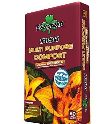 Evergreen Multi Purpose Compost + John Innes 60 Ltr - 1 x 60 Ltr Large Bag