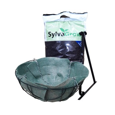 12' Wire Hanging Basket and Compost Kit