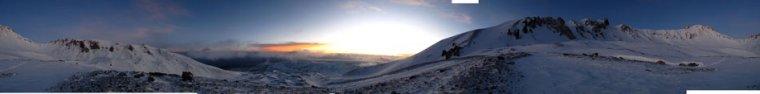 sabah hava pırıl pırıldı, cadaloz dağların dengesiz tavırları işte..