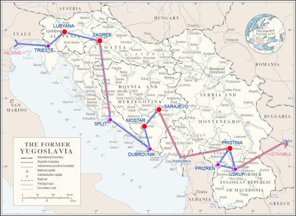 noel balkan gezimin haritası