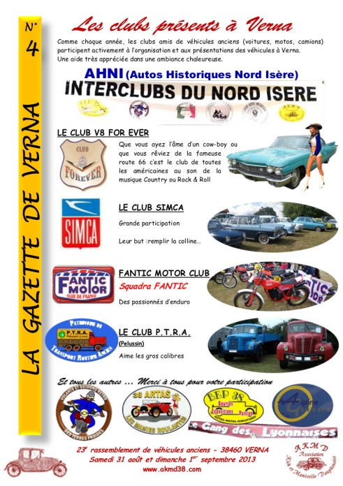 LA GAZETTE DE VERNA 4 (clubs)