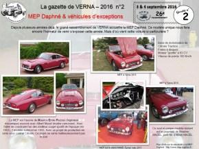 La gazette de Verna 2 MEP et Voitures de prestige-1
