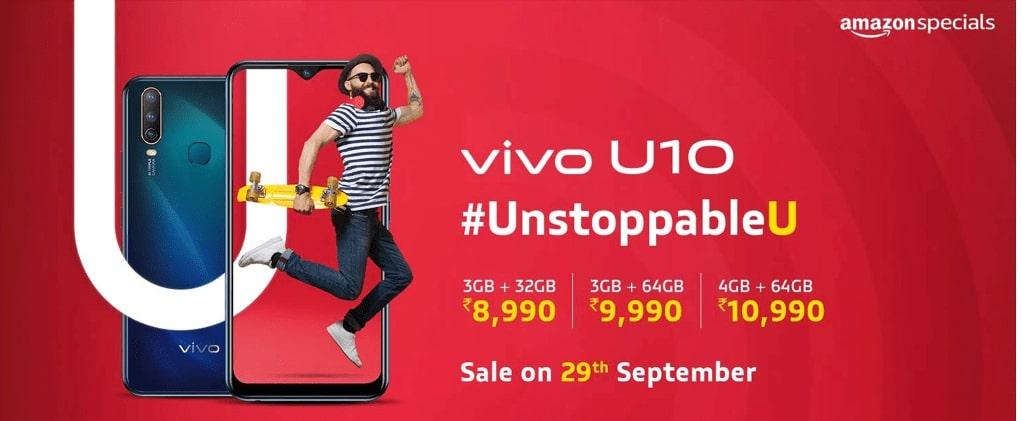 Vivo U10 With Triple Rear Camera