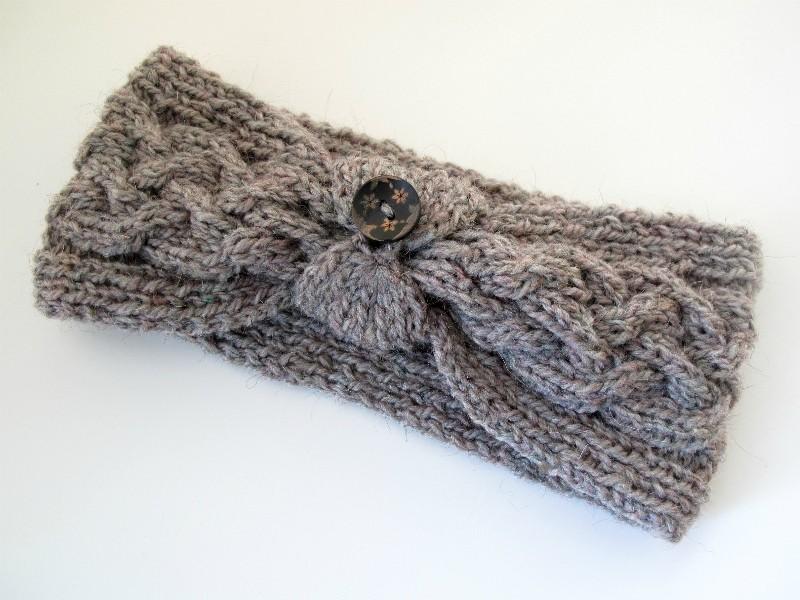 Knit Headband Pattern With Button