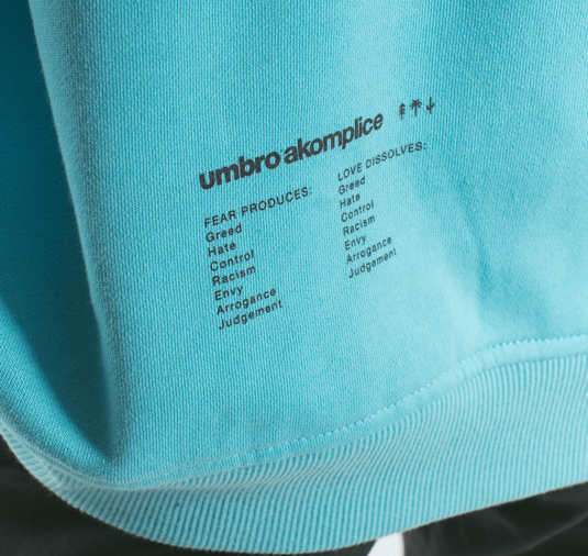 AK X UMBRO Fear Love Fleece Crewneck 5
