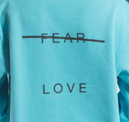 AK X UMBRO Fear Love Fleece Crewneck 6