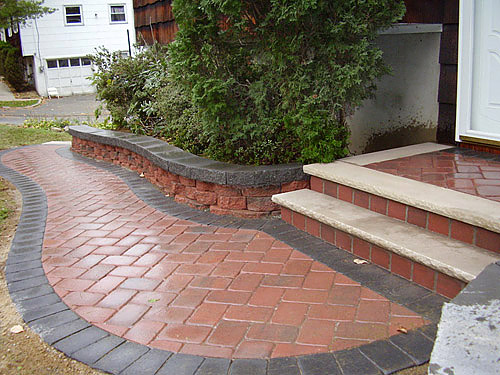 Landscaping Photos, Paver Photos, Wall Photos | Rockland ... on Red Paver Patio Ideas id=99580