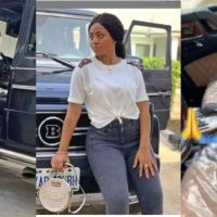 Actress Regina Daniels buys a Mercedes Brabus (video)
