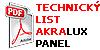 Technicky list AkraLux Panel