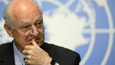 Photo of دي ميستورا : محادثات سورية في جنيف الشهر المقبل