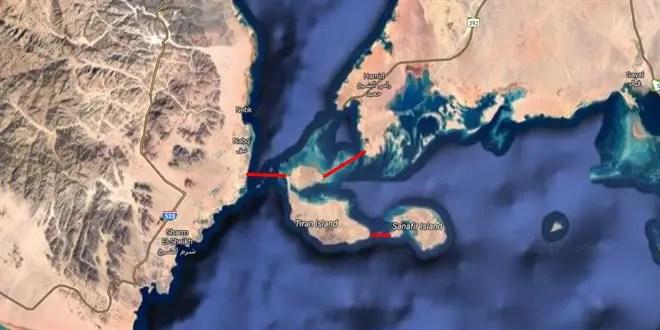 وكالة الملك سلمان يرفع علم السعودية فوق تيران و صنافير و يضع حجر أساس جسر يصلها بالسعودية و مصر