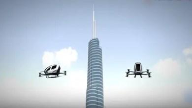 "Photo of صناعة صينية .. أول "" تاكسي جوي "" بالعالم في سماء دبي ( فيديو )"