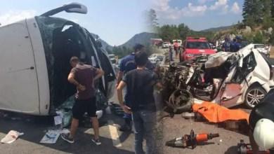 صورة تركيا : وفاة شخصين و إصابة عشرات السياح جراء حادث سير مروع ( فيديو )
