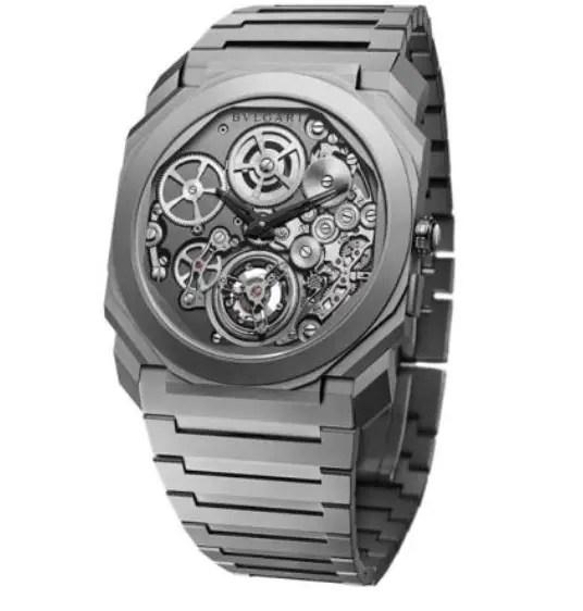 ef398357a ... عالم الساعات بمثابة أمر صعب للغاية، ولكن تصميم ساعة بلغاري لم يلتزم  بذلك فحسب، بل استطاع كسر 3 أرقام قياسية بتصميم توربيون الأوتوماتيكي الأنحف  والأطول.