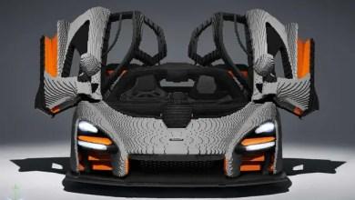 """Photo of 467.8 ألف مكعب """" ليغو """" لإنتاج نموذج من السيارة """" ماكلارين سينا """" ( صور )"""