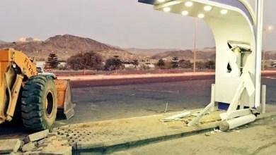 """صورة السعودية : القبض على مواطن اقتلع صرافاً آلياً بواسطة """" شيول """""""