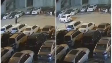 صورة كاميرا مراقبة ترصد سرقة فتاة لسيارة بالكويت ( فيديو )